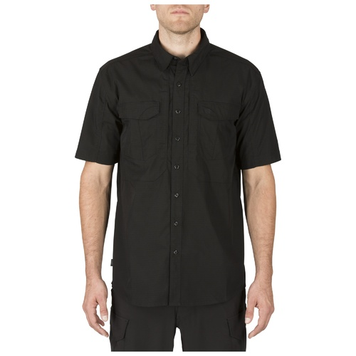 5.11 Stryke Short Sleeve Shirt [Colour: Black] [Size: Small]