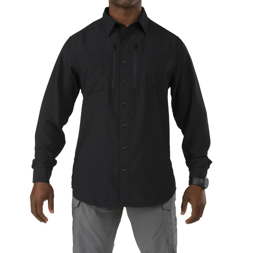 5.11 Traverse Long Sleeve Shirt [Colour: Black] [Size: 2X-Large]