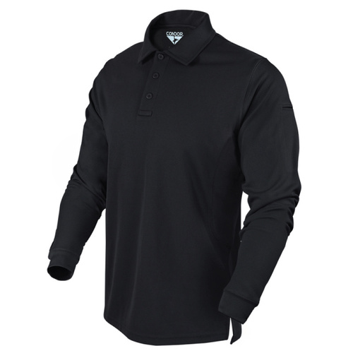Condor Performance Long Sleeve Polo [Colour: Black] [Size: Large]