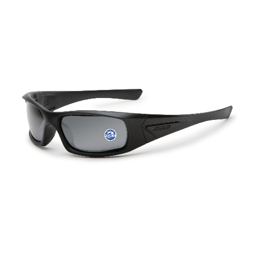 ESS 5B Sunglasses Black Frame Polarized Mirrored Gray Lenses