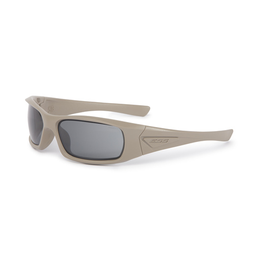ESS 5B Sunglasses Tan Frame Smoke Gray Lenses