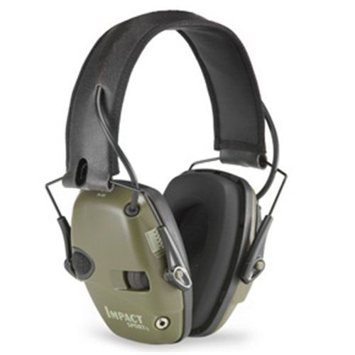 Howard Leight Impact Sport Electronic Earmuff [Colour: Hunter Green]