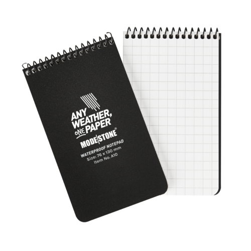 Modestone A10 Top Spiral Notepad 76x130mm- 50 sheets - BLACK
