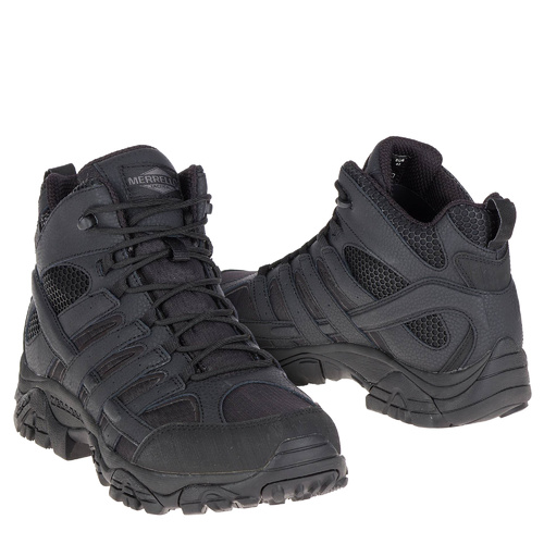 Merrell Tactical Moab 2 Mid Tactical WP Boots - Black [Size: 8.0 US - Regular]