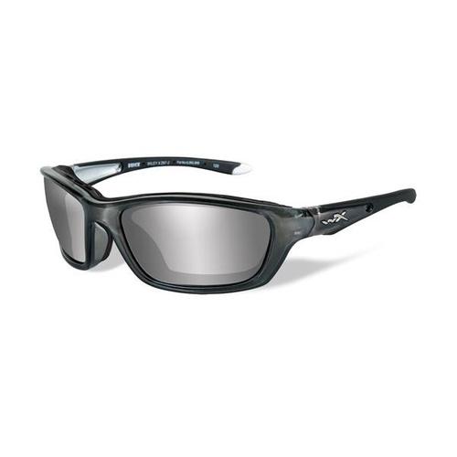 118f62df2f Wiley X Brick 855 Crystal Metallic Frame   Silver Flash Lens