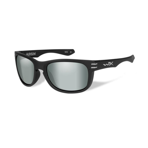 Wiley X Hudson Polarized Platinum Flash Lens / Matte Black Frame