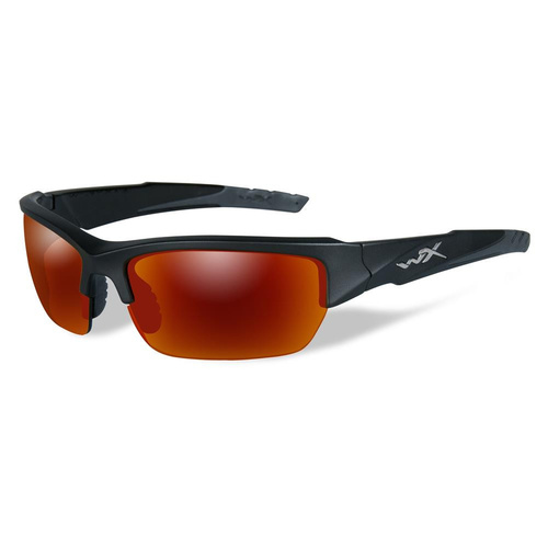 Wiley X Valor Matte Black Frame / Polarized Crimson Mirror Lens