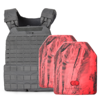 5.11 TacTec Plate Carrier [Storm] & 2 X 2.6kg Rubber Training Plate